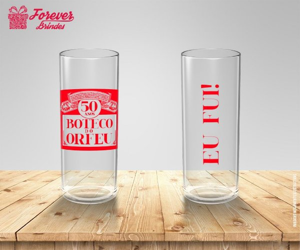 Copo Long Drink Aniversário 50 Anos Boteco