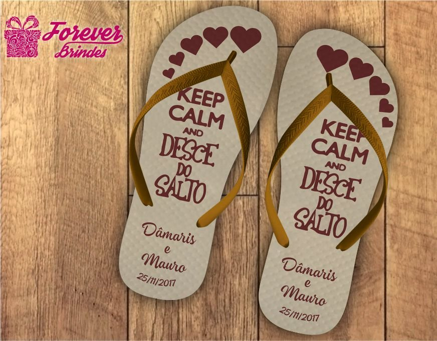 chinelo casamento keep calm