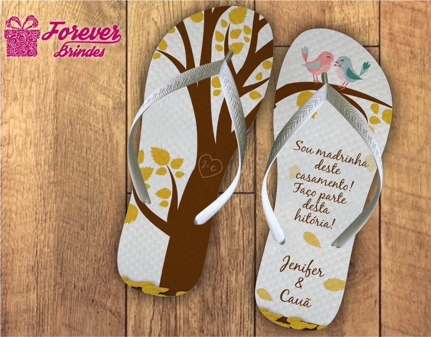 chinelo casamento amor da madrinha