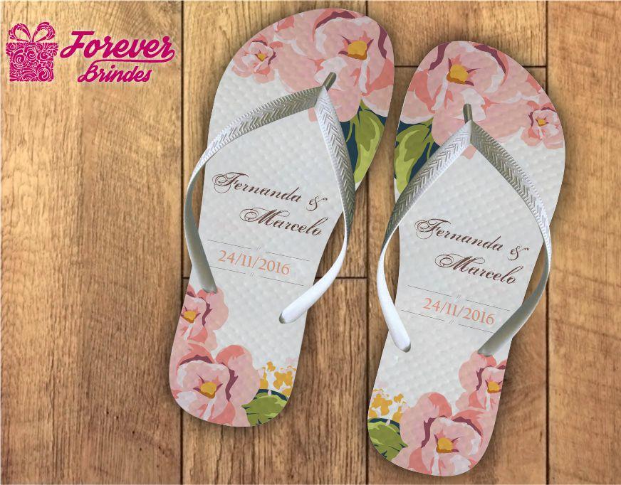 Chinelo casamento flor esporinha