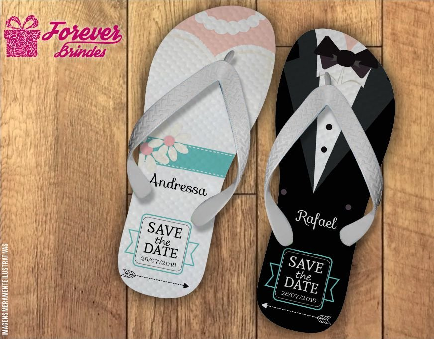 Chinelo casamento save the date