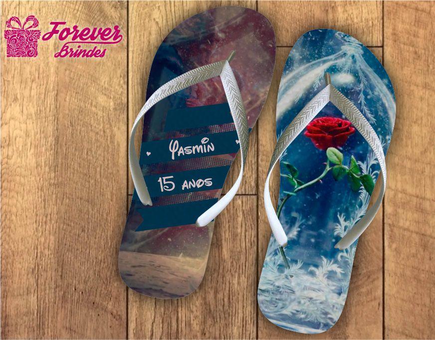 chinelo debutante a rosa da bela