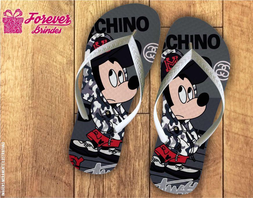 Chinelo Aniversário Mickey Hip Hop