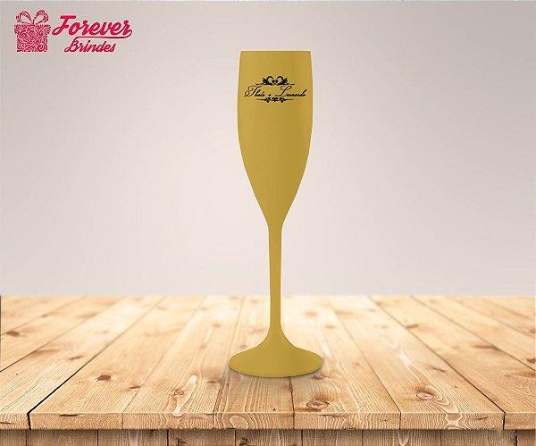 Taça De Champanhe De Casamento Com Ornamentos