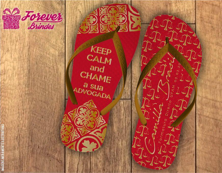 Chinelo Formatura direito arabesco vermelho com dourado