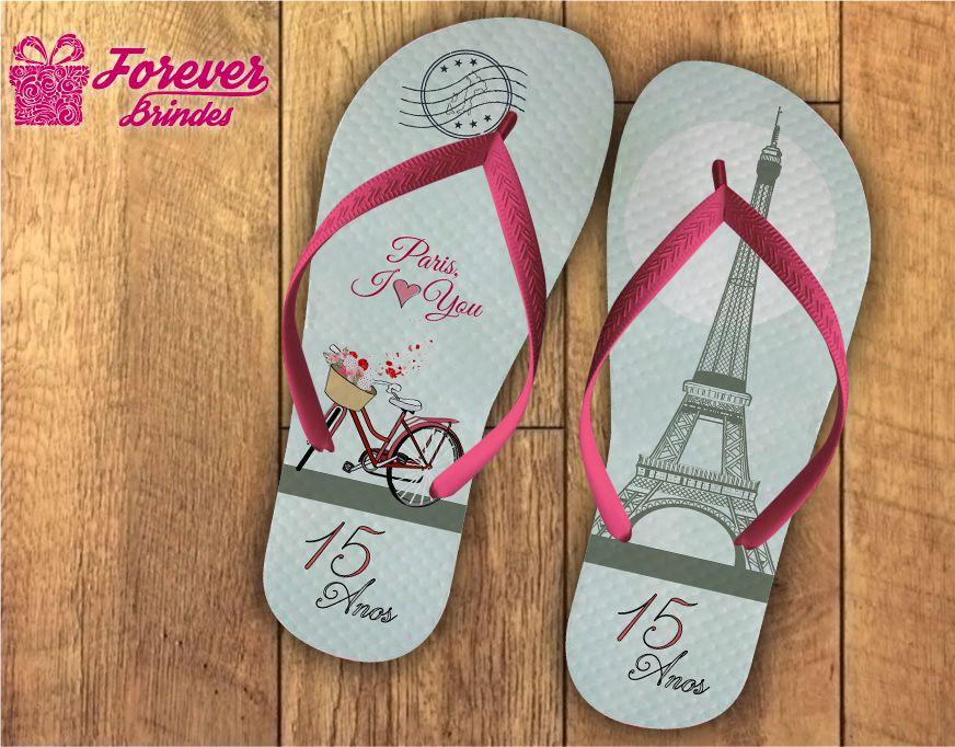 Chinelo Aniversário 15 Anos Torre Eiffel