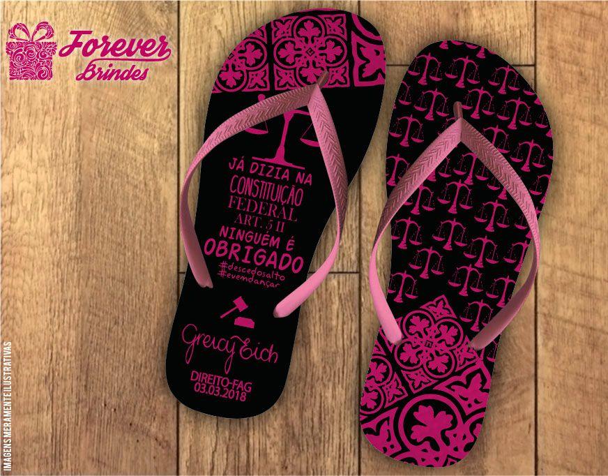 chinelo Formatura direito arabesco pink