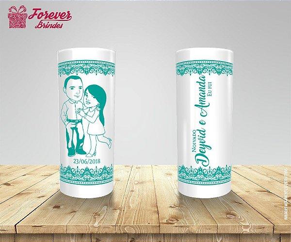 Copo Long Drink Casamento Com Estampa