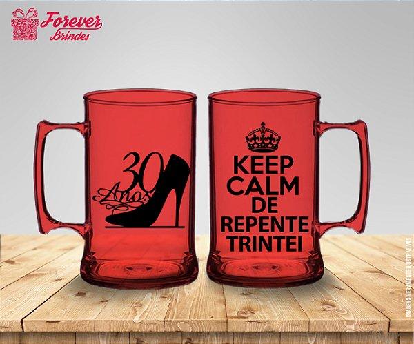 Caneca De Chopp Aniversário 30 Anos Keep Calm