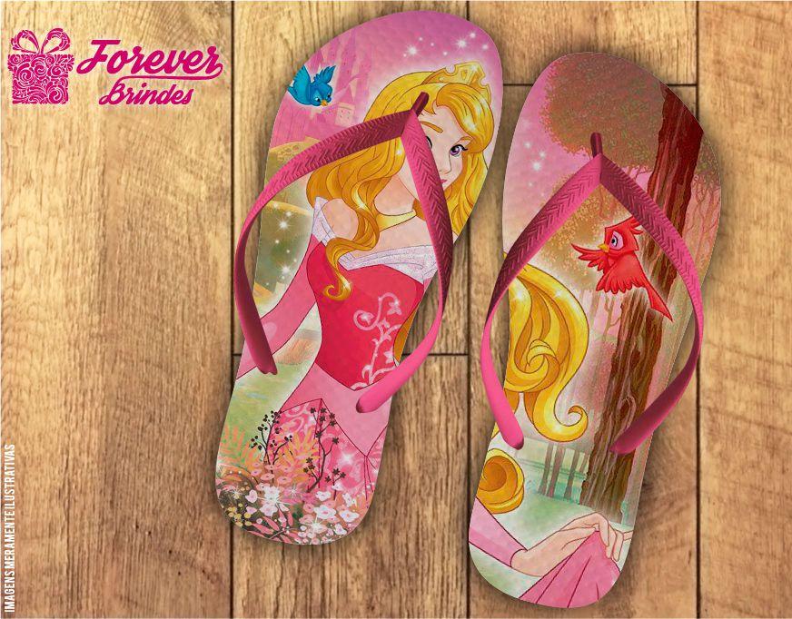Chinelo Aniversário Princesa Aurora