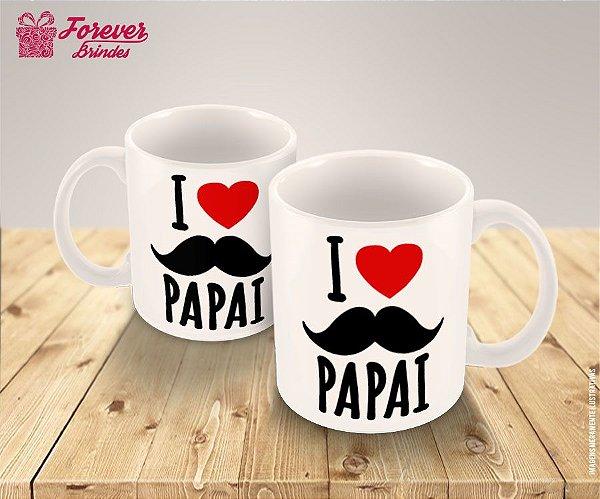 Caneca Porcelana dia dos Pais I Love Pai