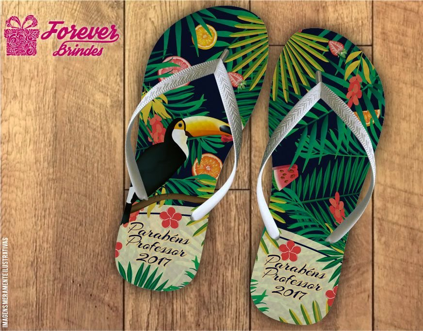 Chinelo Dia Dos Professores tropical