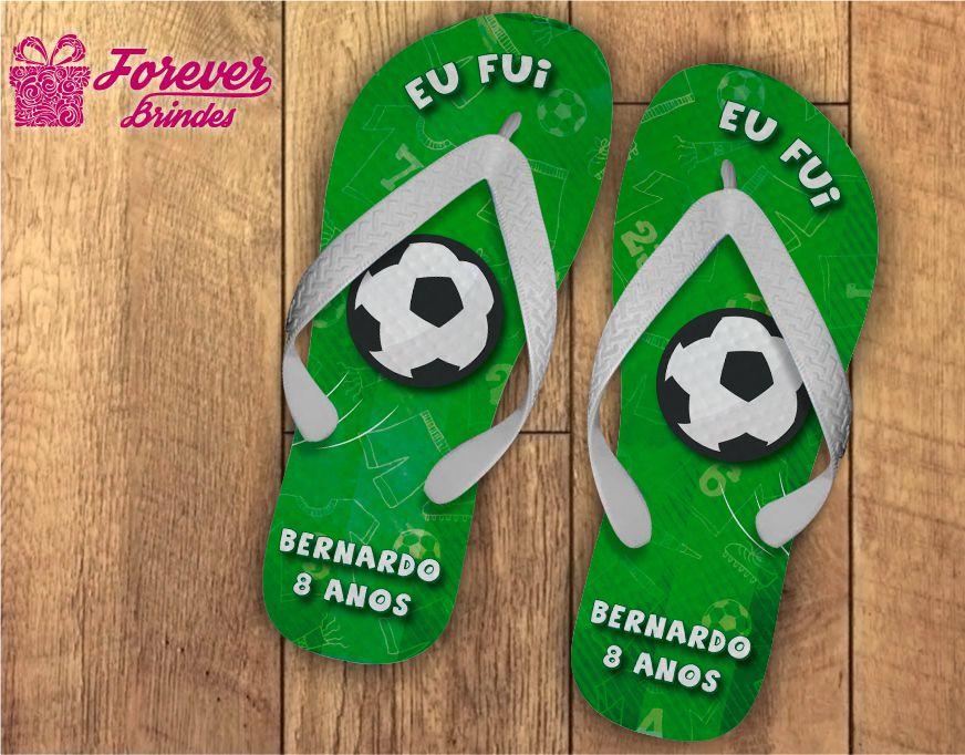 Chinelo Personalizado de Aniversário Futebol