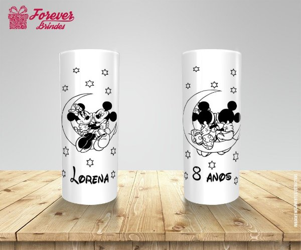 Copo Long Drink Mickey e Minnie Olhando as Estrelas