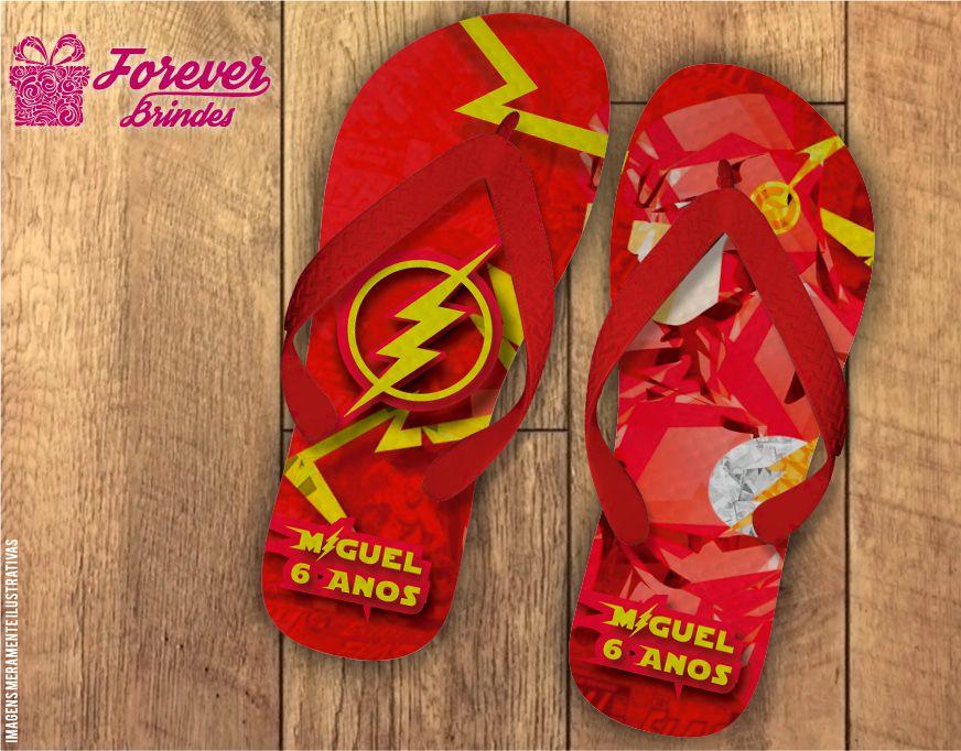 Chinelo Aniversário Infantil The Flash