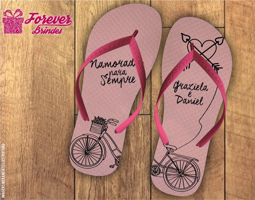 Chinelo Dia Dos Namorados bicicleta do amor
