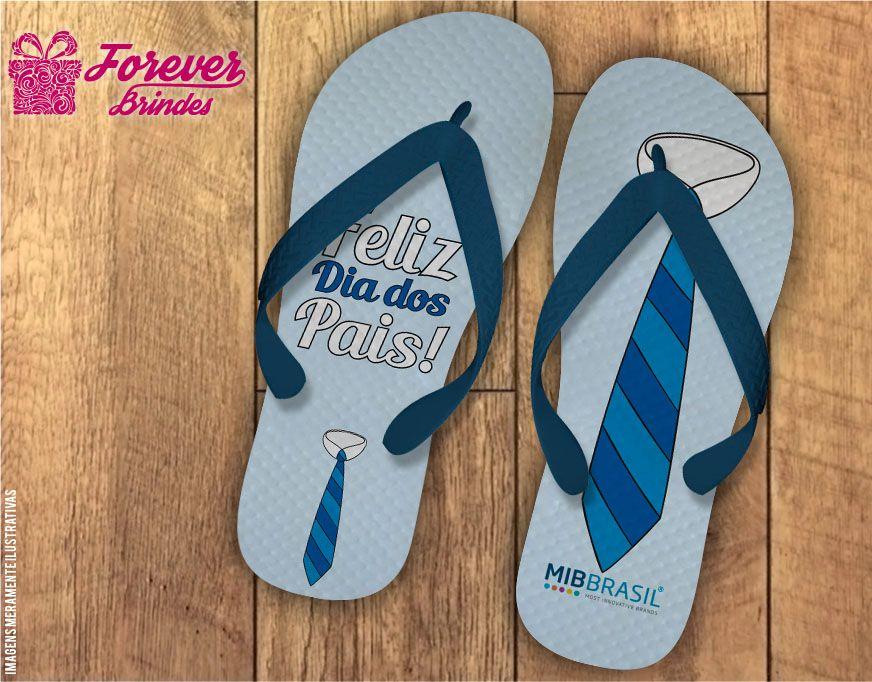Chinelo Dia Dos Pais a gravata azul