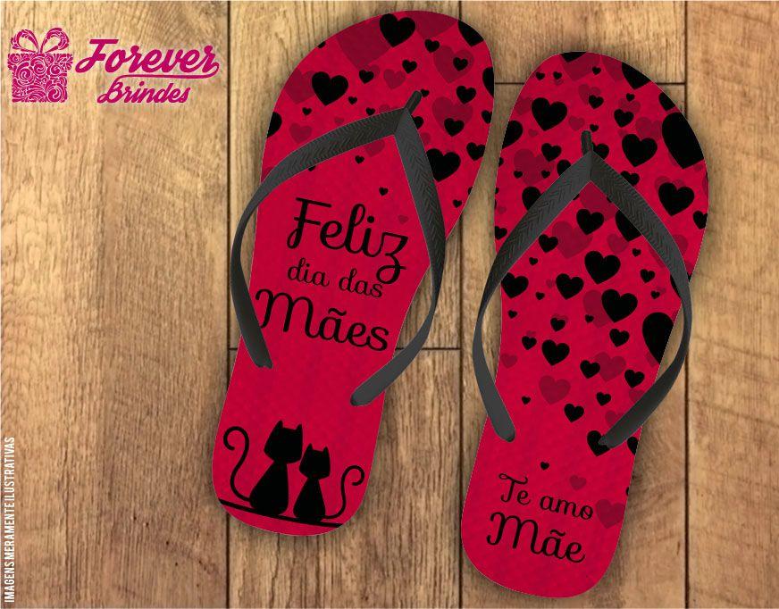 Chinelo dia das mães mil amores
