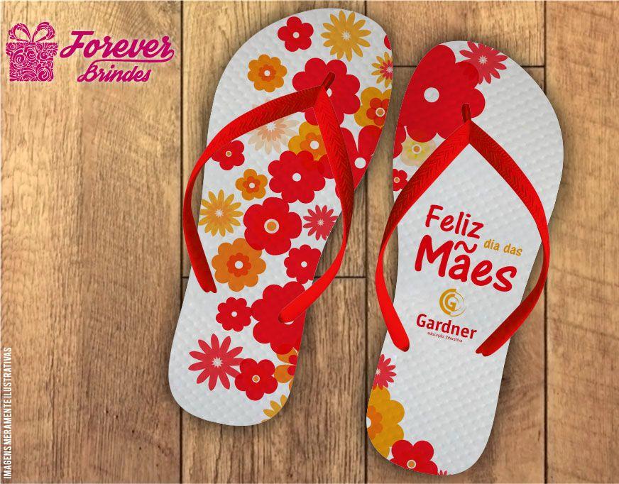 Chinelo Dia Das Mães flores