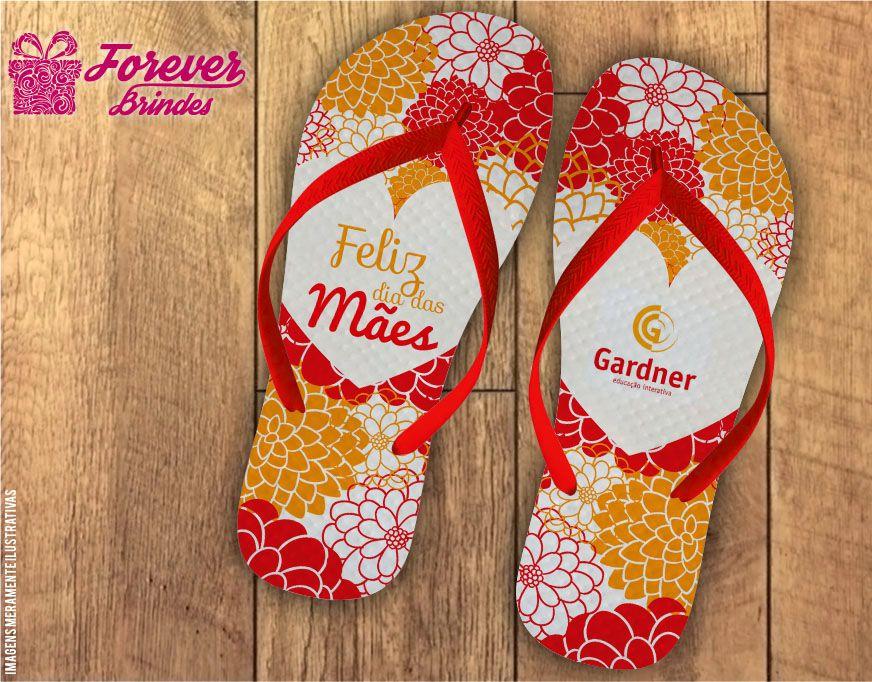 Chinelo Dia Das Mães pétalas de flores
