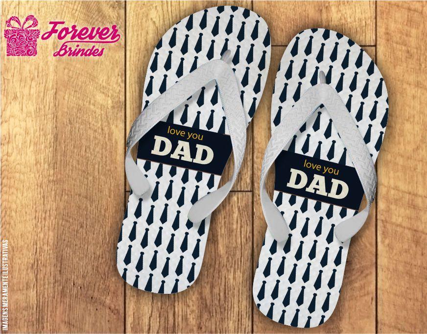 Chinelo Dia Dos Pais I Love Dad