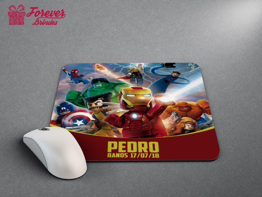 Mouse Pad Quadrado Os Vingadores