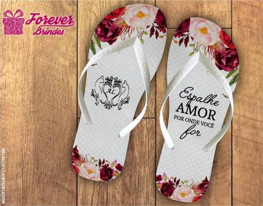 Chinelo De Casamento Espalhe Amor
