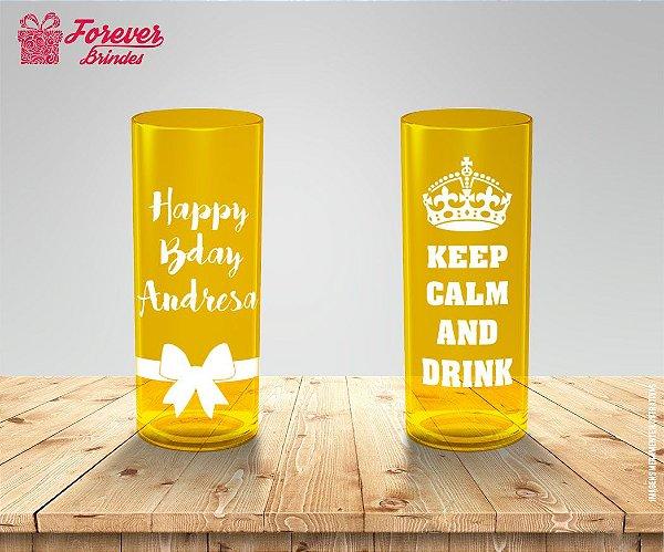 Copo Long Drink Happy Bday