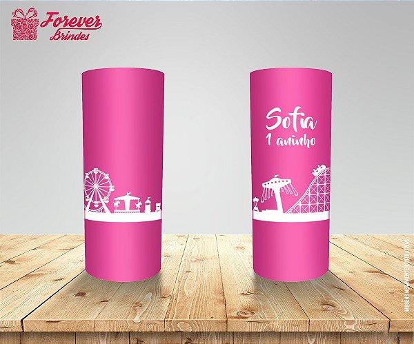 Copo Long Drink Parque De Diversão Rosa