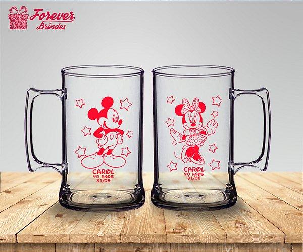 Caneca De Chopp Aniversário 40 Anos Mickey e Minnie