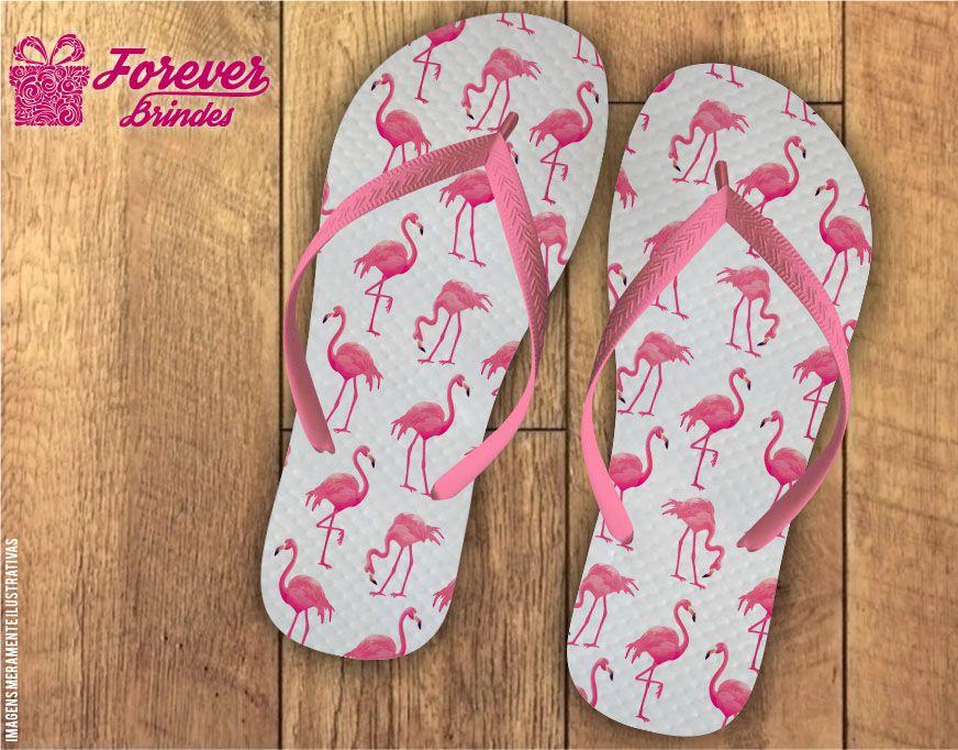 Chinelo Personalizado Flamingo