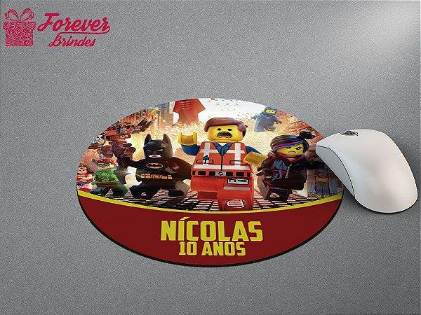 Mouse Pad Redondo Lego