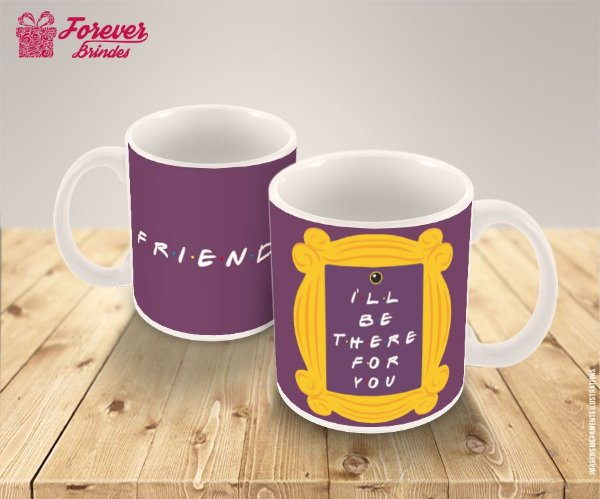 Caneca De Porcelana Friends