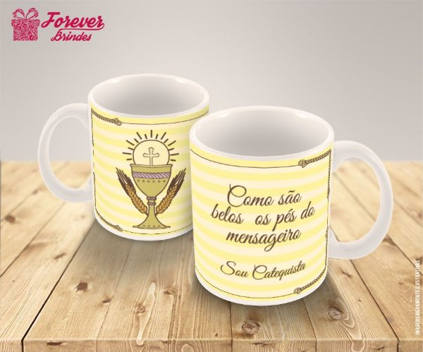Caneca De Porcelana Sou Catequista