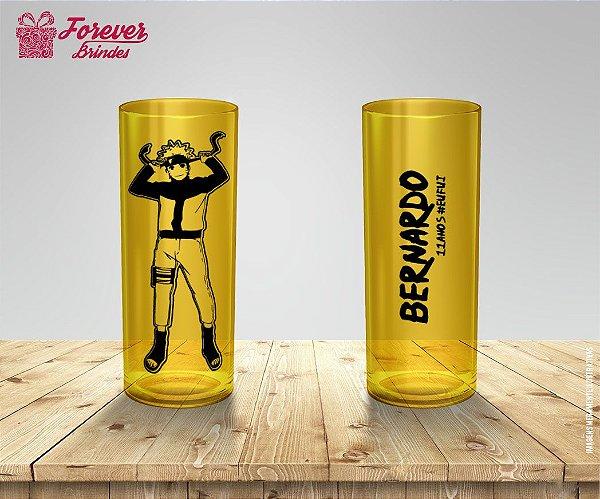 Copo Long Drink Festa Aniversário Naruto
