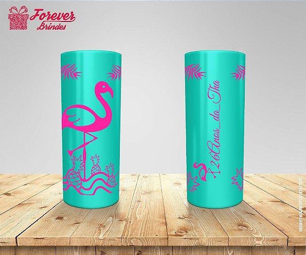 Copo Long Drink Festa Tropical Flamingo