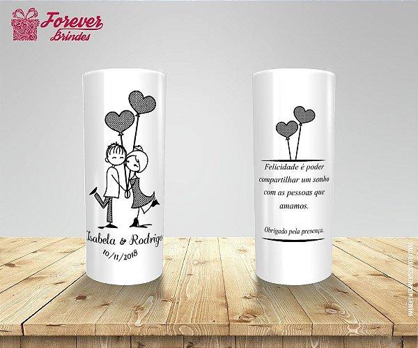 Copo Long Drink Casamento Noivos Balões