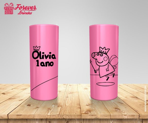 Copo Long Drink Peppa Pig Aniversário
