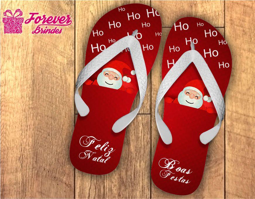 Chinelo Personalizado De Natal Ho Ho Ho Ho