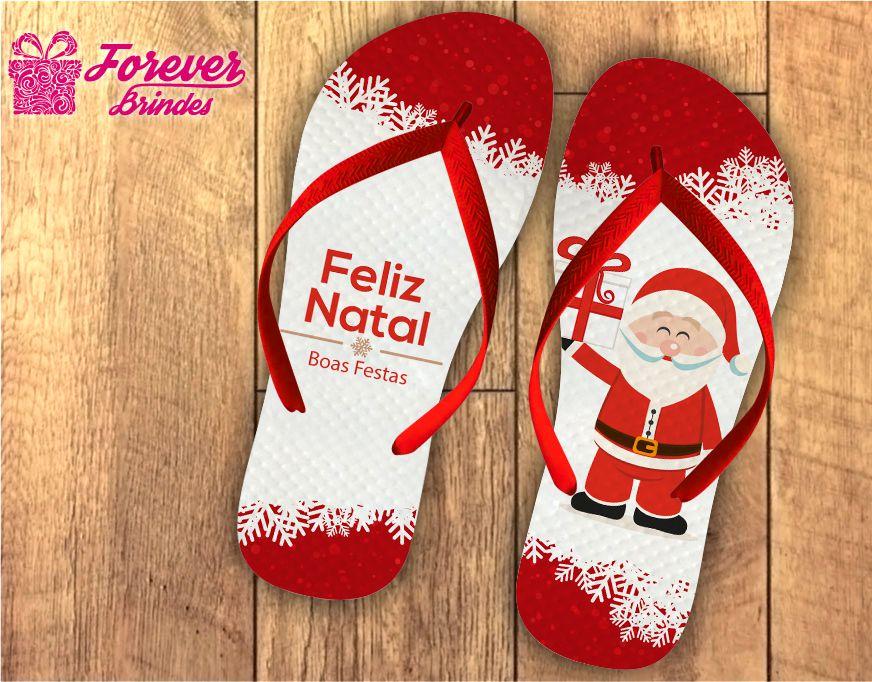 Chinelo Personalizado De Natal Papai Noel