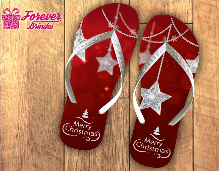 Chinelo Personalizado De Natal Estrela