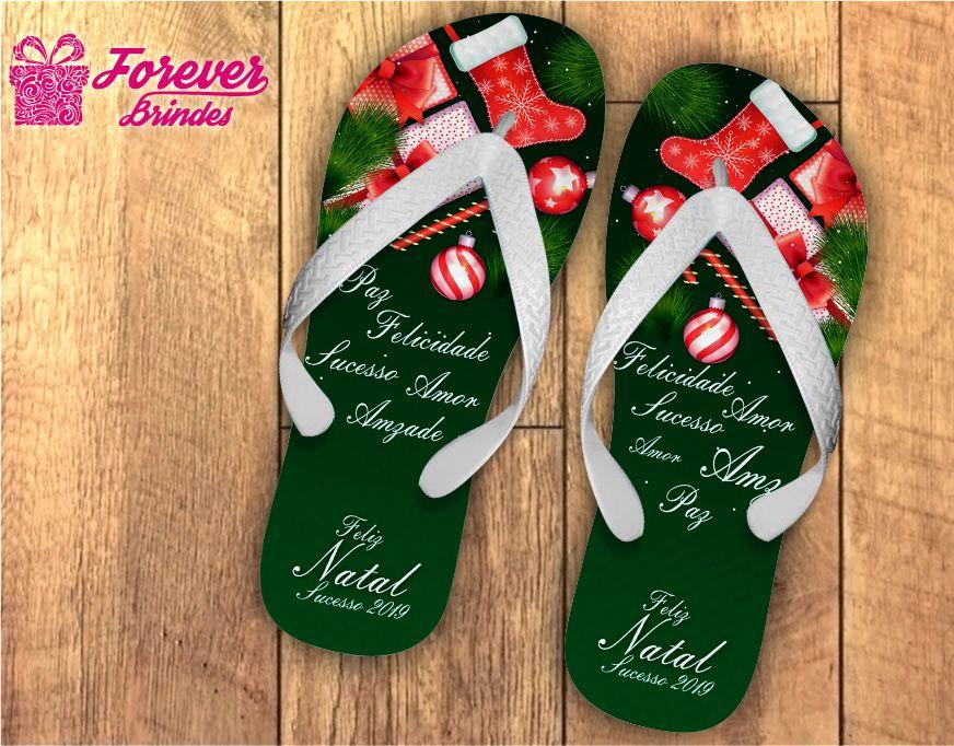 Chinelo De Natal Personalizado