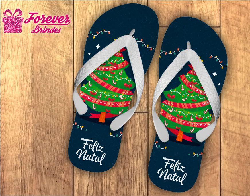 Chinelo De Natal Personalizado Árvore De Natal