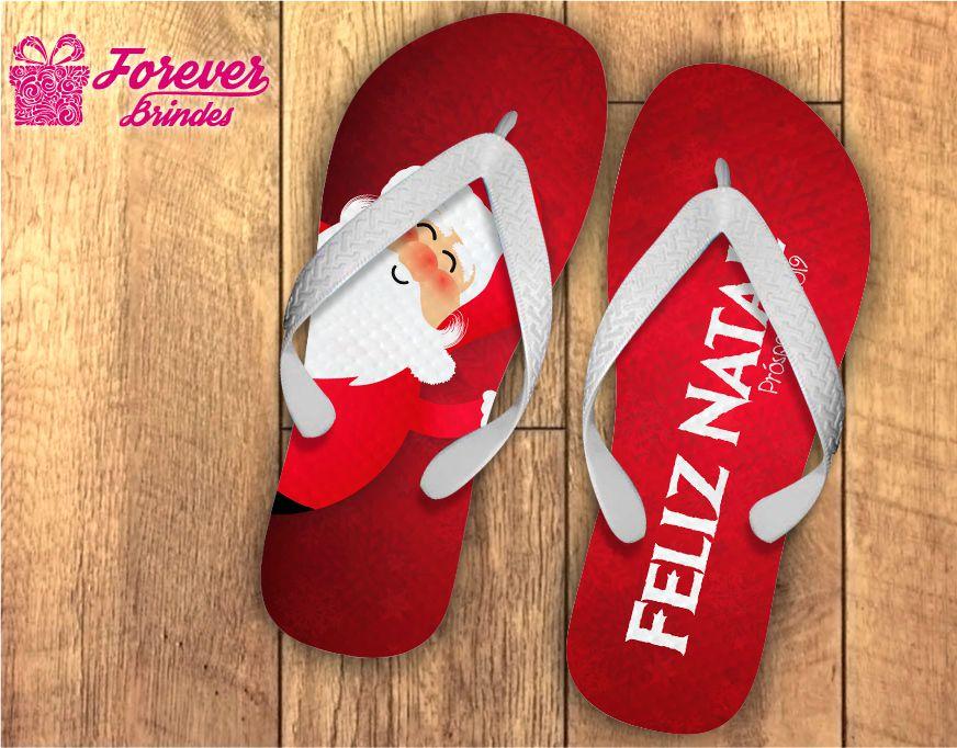 Chinelo De Natal Personalizado Feliz Natal