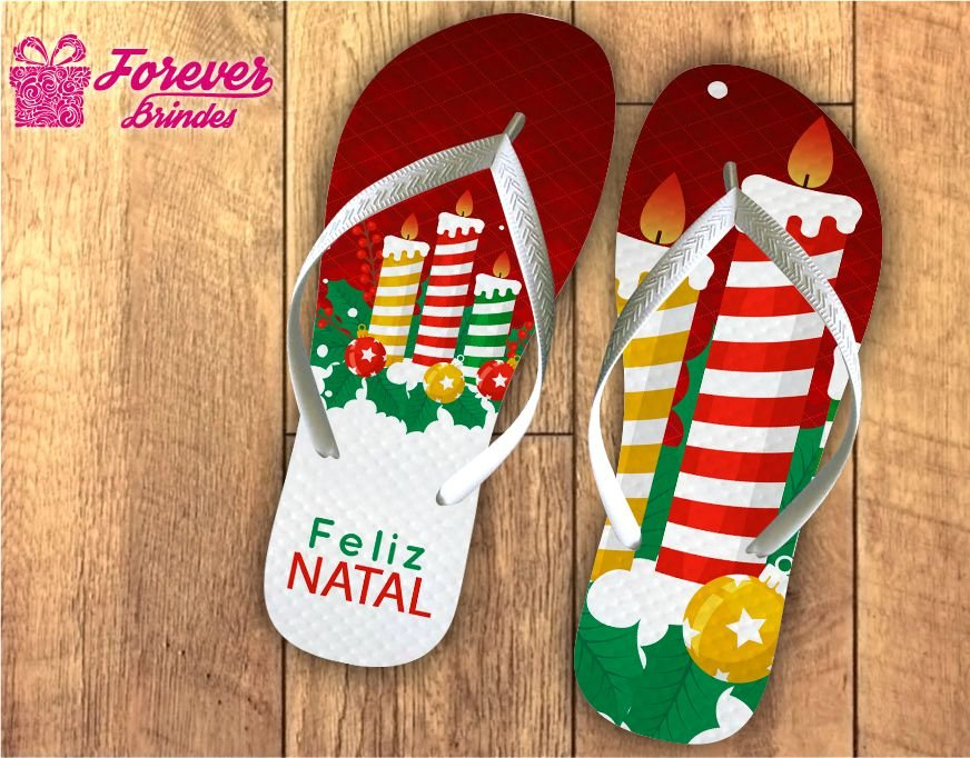 Chinelo De Natal Velas Natalinas