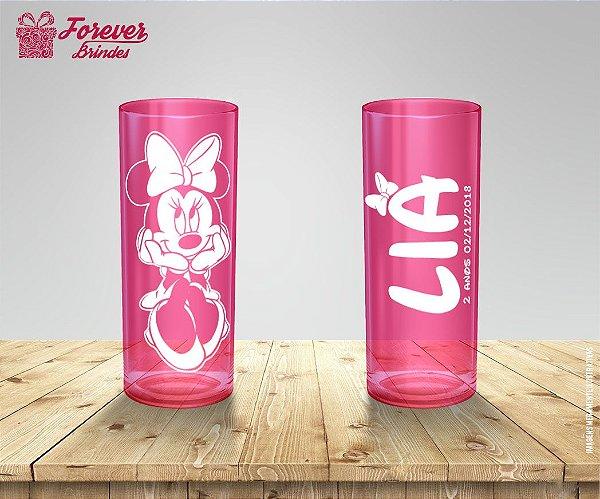 Copo Long Drink Minnie Aniversário Infantil