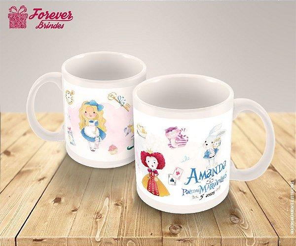 Caneca De Porcelana Alice No País Das Maravilhas