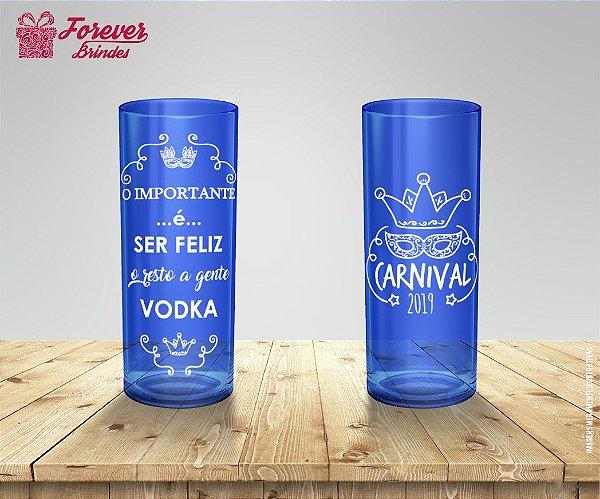 Copo Long Drink de Carnaval Ser Feliz