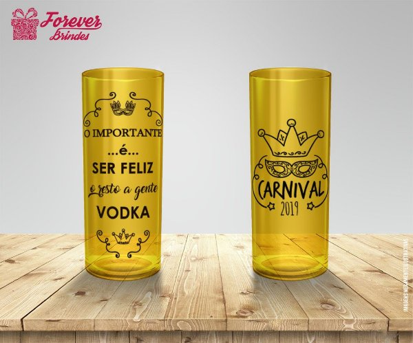 Copo Long Drink de Carnaval Vodka
