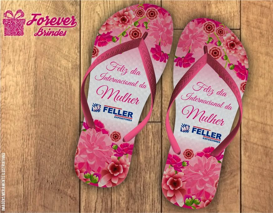 Chinelo Dia das Mulheres Floral